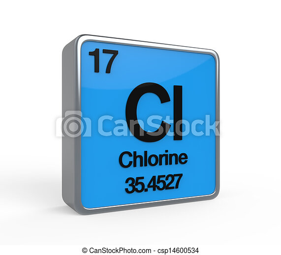 Chlorine element periodic table isolated on white background 3d render chlorine element periodic table csp14600534 urtaz Images
