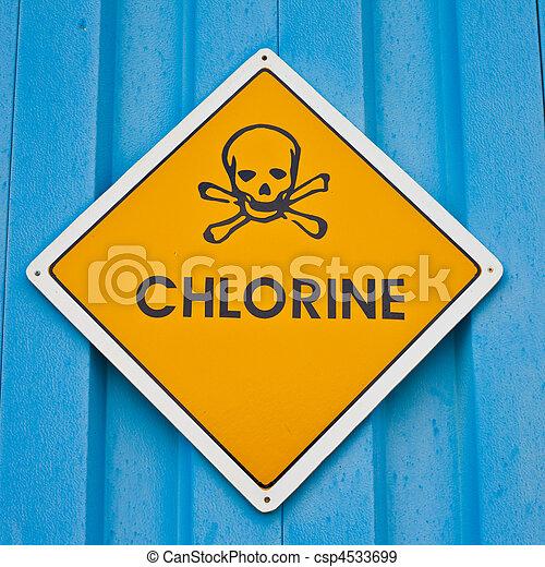 Chlorine warning sign - csp4533699
