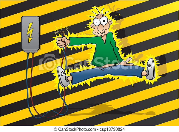 choc, électrique - csp13730824
