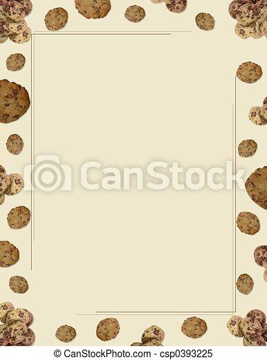 Choc Chip Cookie borde - csp0393225