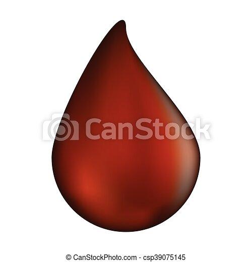 choco drop vector symbol icon design. illustration isolated on white background - csp39075145