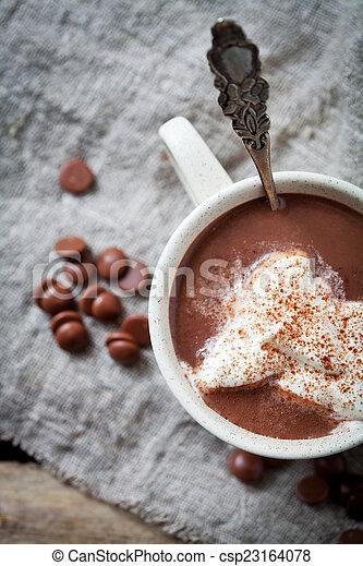 chocolat chaud - csp23164078