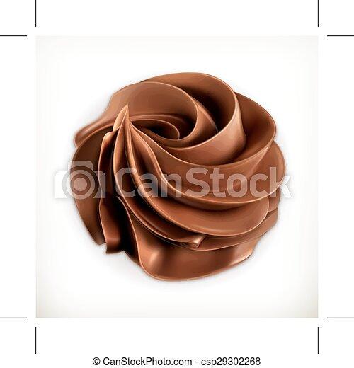 chocolat, crème fouettée - csp29302268