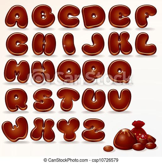 Chocolate Alphabet - csp10726579