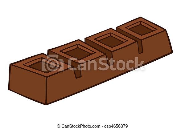 Una barra de chocolate. - csp4656379