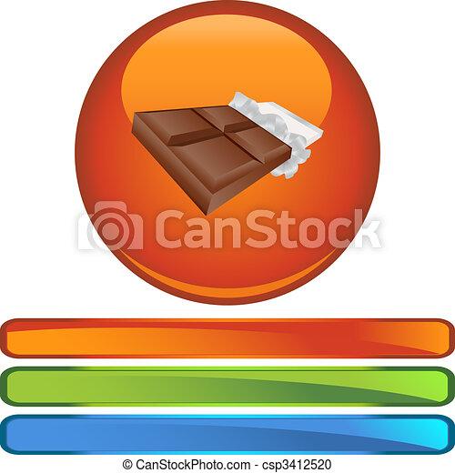 Chocolate Bar - csp3412520