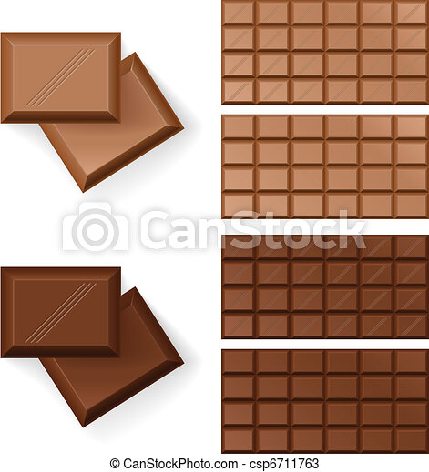 Chocolate bars  - csp6711763