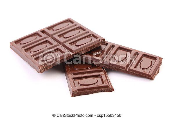 Chocolate bars isolated on white background - csp15583458