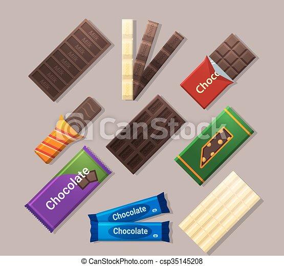 Chocolate bars - csp35145208