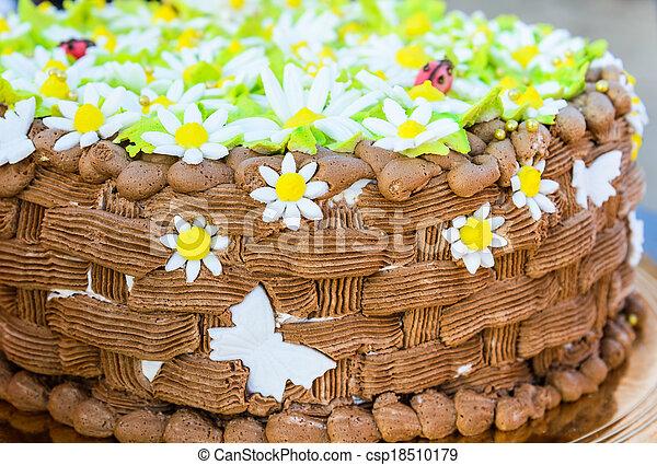 Fine Chocolate Birthday Cake Big Chocolate Cake Decorated With Flowers Personalised Birthday Cards Veneteletsinfo