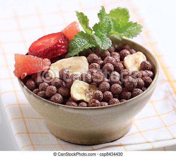 Chocolate breakfast cereal - csp8434430