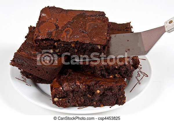 Chocolate Brownies With A Spatula - csp4453825