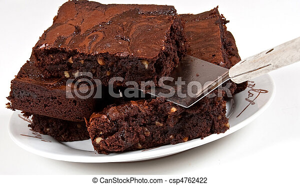 Chocolate Brownies With Spatula - csp4762422