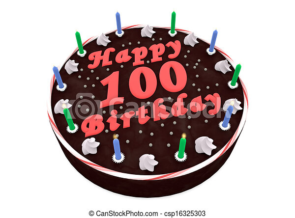 Chocolate Cake For 100th Birthday