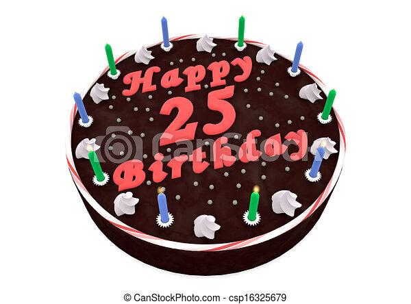 Chocolate Cake For 25th Birthday