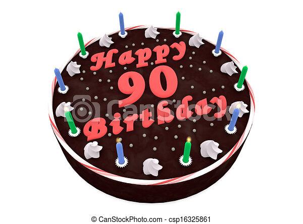 Chocolate Cake For 90th Birthday