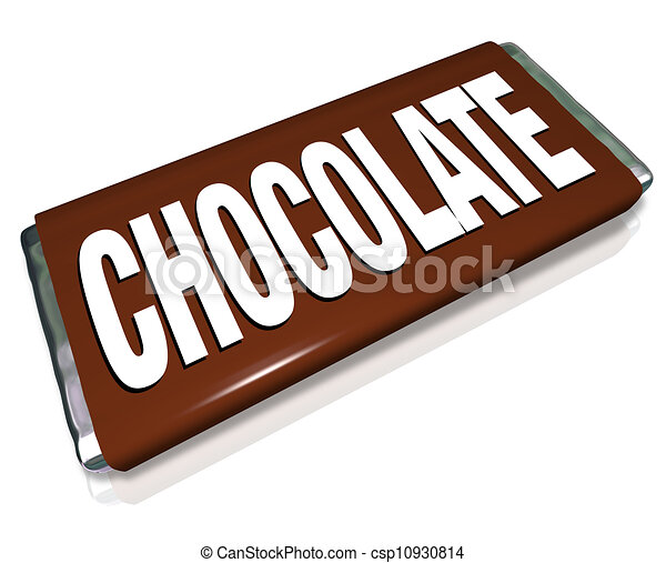 chocolate candy bar brown wrapper junk food a chocolate bar in rh canstockphoto com clipart chocolate bar clipart chocolate bar
