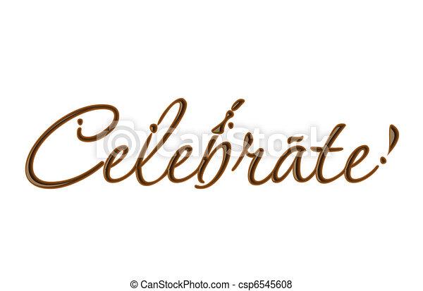 Chocolate celebrate text - csp6545608