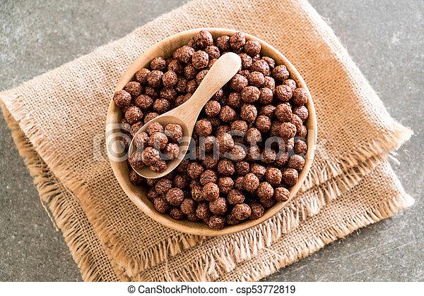 chocolate cereal bowl - csp53772819