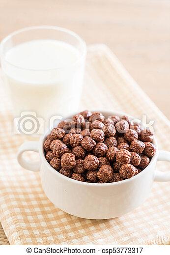 chocolate cereal bowl - csp53773317