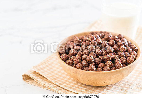 chocolate cereal bowl - csp60872276