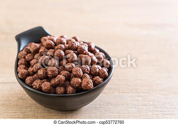 chocolate cereal bowl - csp53772760