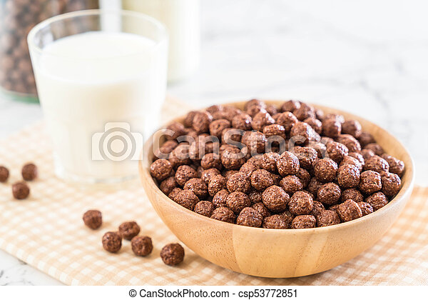 chocolate cereal bowl - csp53772851