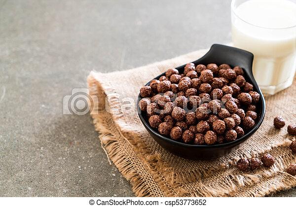 chocolate cereal bowl - csp53773652
