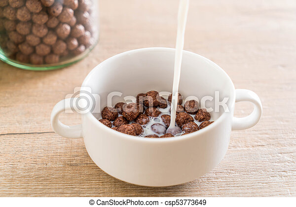 chocolate cereal bowl - csp53773649
