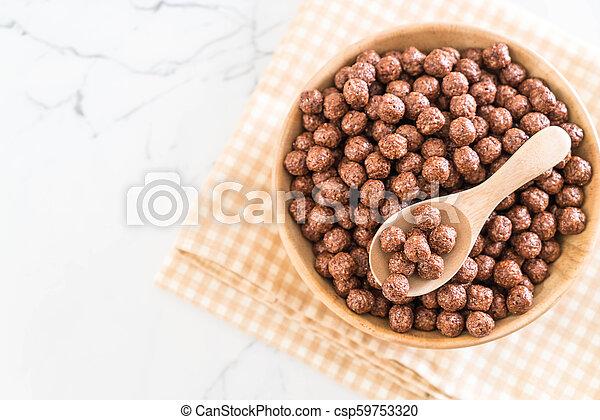 chocolate cereal bowl - csp59753320