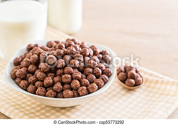 chocolate cereal bowl - csp53773292
