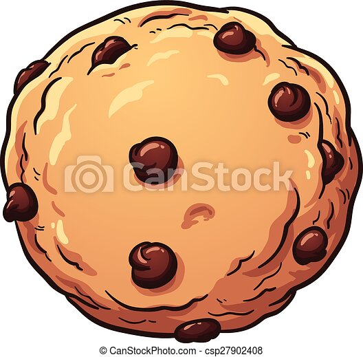 chocolate chip cookie vector clip art illustration with simple rh canstockphoto com Chocolate Chip Cookie Clip Art Black and White Chocolate Chip Cookie Clip Art Borders