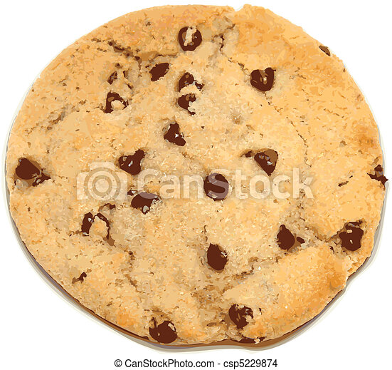 Chocolate Chip Cookie vector illustration - csp5229874