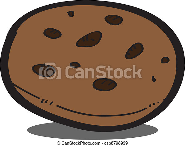 chocolate chip cookies clipart vector chocolate chip cookies eps10 vector on white background 862