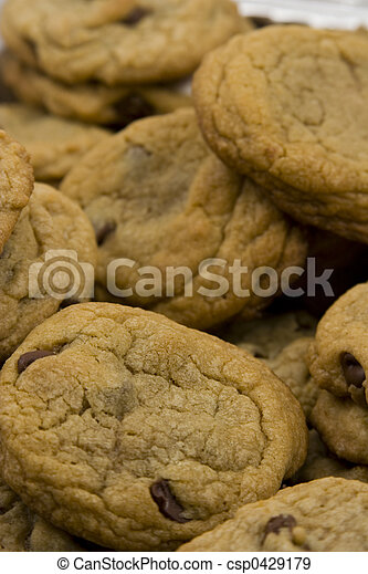 chocolate chip cookies hot to go - csp0429179