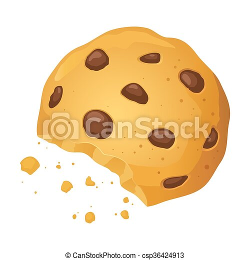 chocolate chip cookies clipart vector chocolate chip cookies with bite vector illustration 862