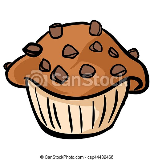 chocolate chip muffin cartoon clip art vector search drawings and rh canstockphoto com muffin clip art free muffins clipart png