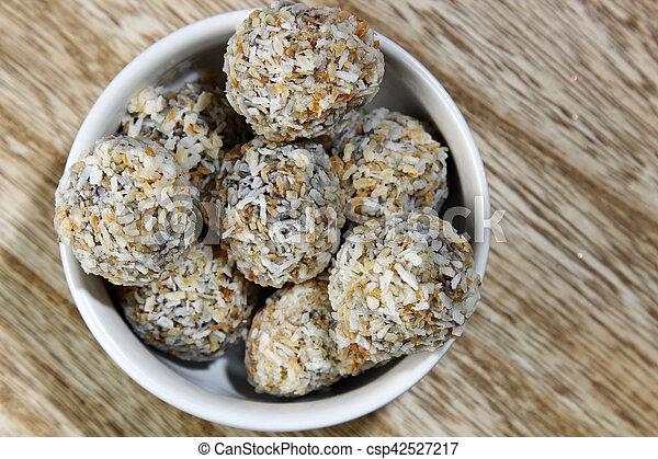 Chocolate coconut bites - csp42527217