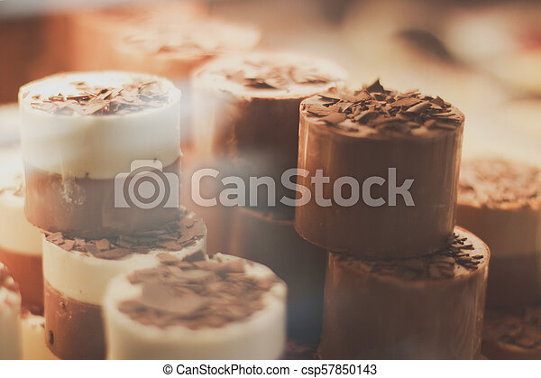 Chocolate coffee mousse - csp57850143