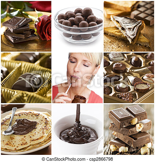 Chocolate collage - csp2866798