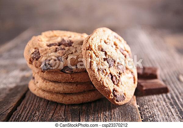chocolate cookie - csp23370212