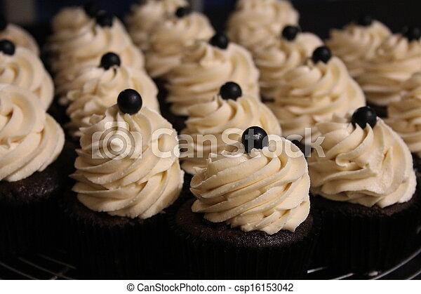 Chocolate Cupcakes Closeup - csp16153042