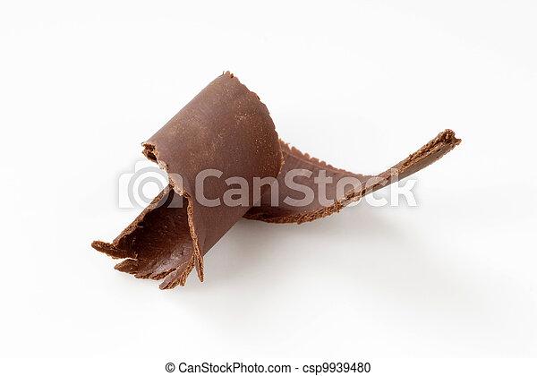 Chocolate curl - csp9939480