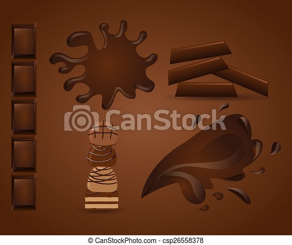 Delicioso chocolate - csp26558378