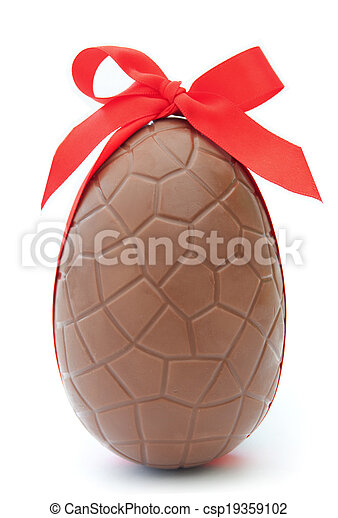 Chocolate easter egg  - csp19359102