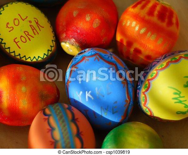 chocolate easter eggs - csp1039819