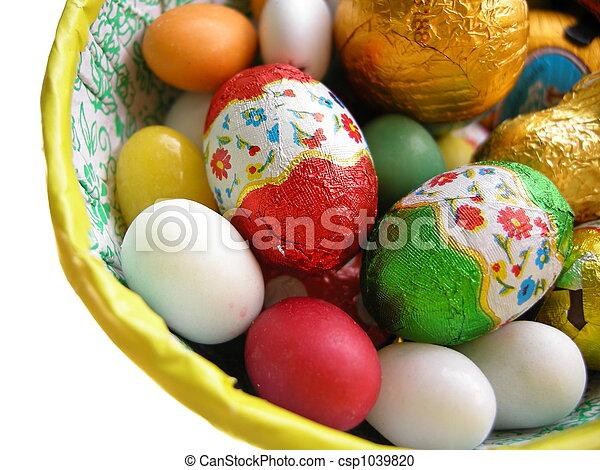chocolate easter eggs - csp1039820
