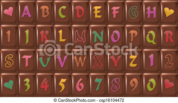 Chocolate-Font - csp16104472