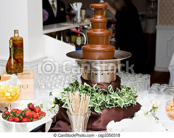 Chocolate Fountain Spread One Tall 4 Level Chocolate Fountain And