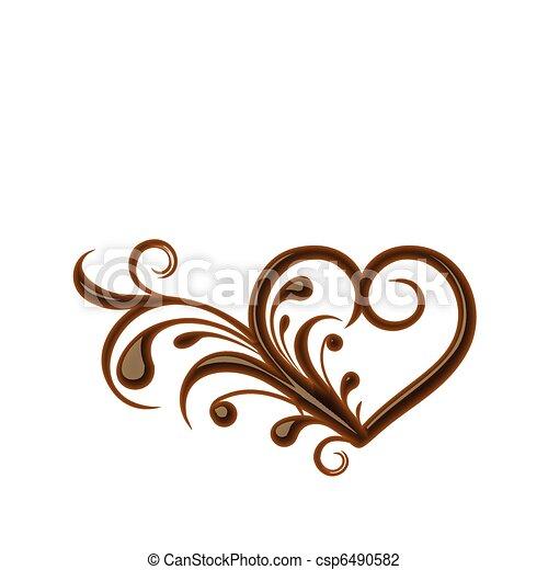 Chocolate heart - csp6490582